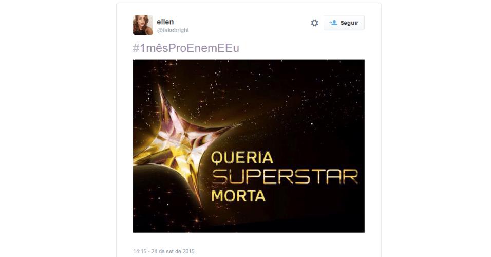 A apenas 30 dias para o Enem (Exame Nacional do Ensino Médio) 2015, a hashtag #1mêsProEnemEEu está no primeiro lugar nos assuntos mais comentados do Twitter no Brasil