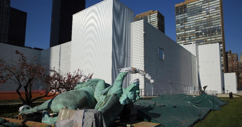 O prédio temporário North Lawn, na sede da ONU, em Nova York, será demolido nos próximos meses após a entidade finalizar a reforma de seu complexo