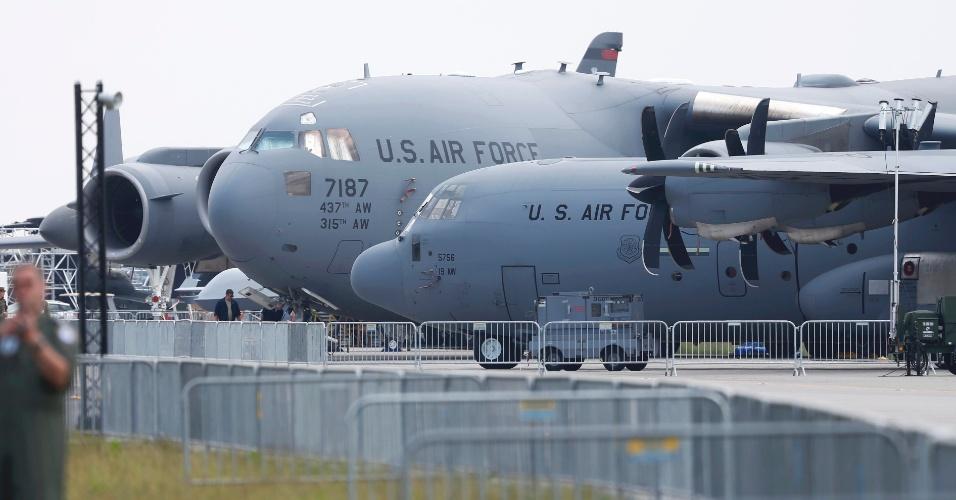 30.mai.2016 - International Aerospace Exhibition (ILA), em Schoenefeld, na Alemanha, terá a exibição de aeronaves da força aérea americana