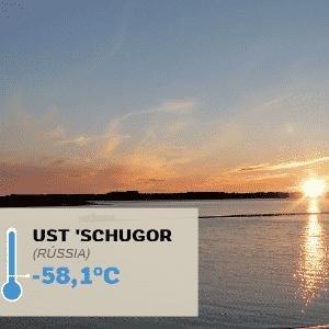 1º.jul.2016 - UST 'SCHUGOR (RÚSSIA), -58,1°C: A Rússia também detém o recorde de temperatura mais baixa já registrada na Europa. No último dia do ano de 1978, os termômetros marcaram -58,1°C em Ust 'Schugor, um vilarejo rural russo, nas margens do rio Pechora - Wikipedia/Creative Commons