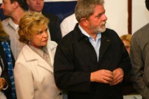 25.jan.2017 - O ex-presidente Lula acompanhado da ex-primeira-dama, Marisa Letícia