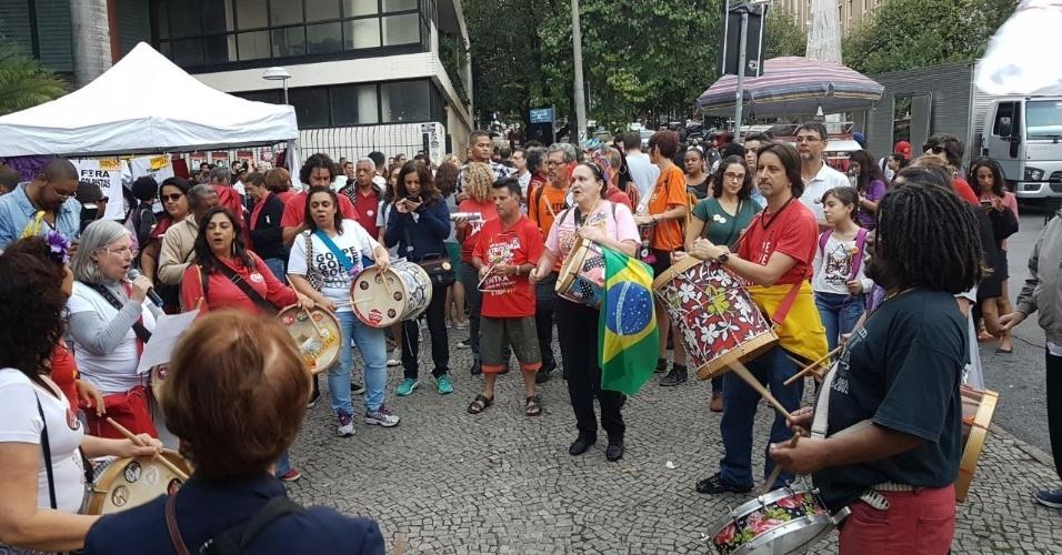 16.jun.2017 - Após São Paulo e Rio de Janeiro, nesta sexta-feira é a capital mineira, Belo Horizonte, que recebe um ato pelas Diretas Já