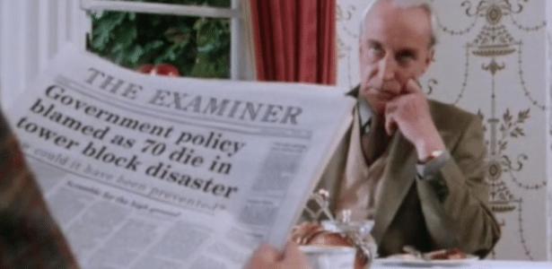 Manchete de jornal do seriado é uma das semelhanças com o ocorrido em Londres