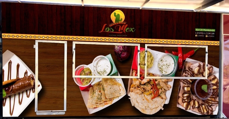 Franquia contêiner Los Mex, comida mexicana