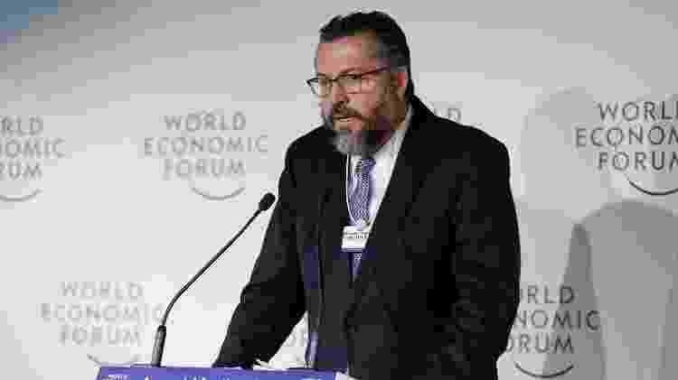 23.jan.2019 -  Ministro de Estado das Relações Exteriores, Ernesto Araújo, durante o Fórum Econômico Mundial, em Davos, na Suíça - Alan Santos/PR - Alan Santos/PR