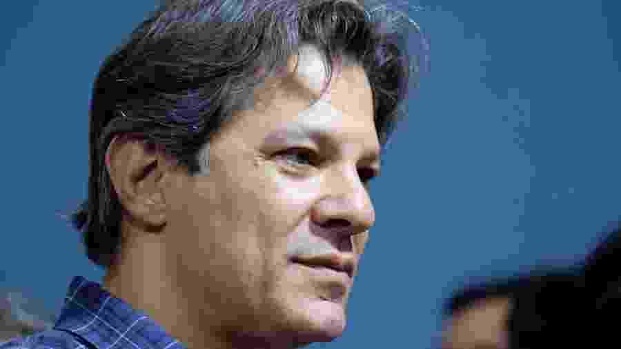 9.fev.2019 -  Fernando Haddad durante evento pelos 39 anos do PT, em São Paulo - Vide Aguiar/Futura Press/Estadão Conteúdo