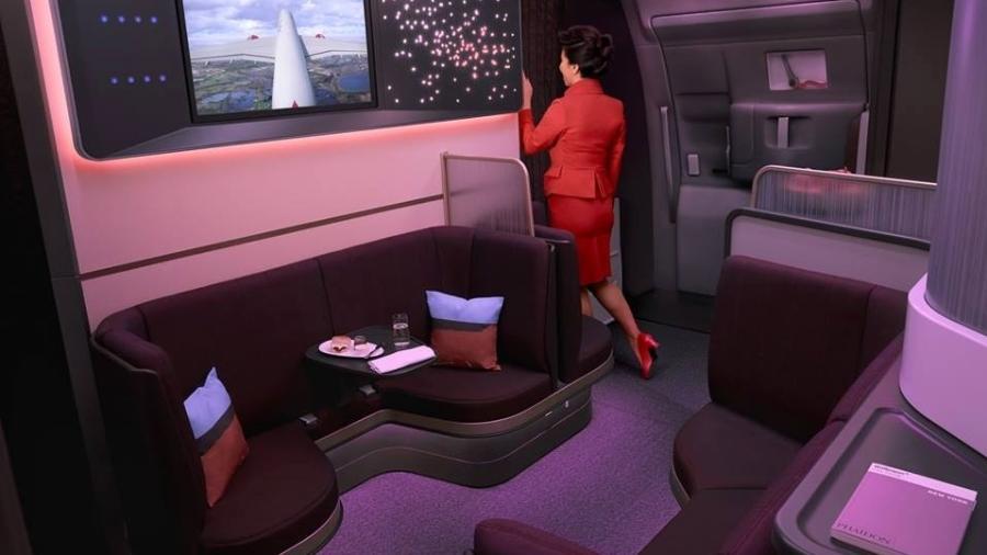 Novo assento dos aviões aviões A350 da Virgin Atlantic Airways - Divulgação