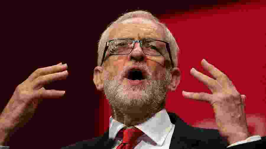 24.set.2019 - O líder do partido trabalhista, Jeremy Corbyn - Daniel Leal-Olivas/AFP