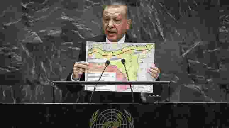 Erdogan anunciou na quarta-feira o início das operações militares na fronteira entre a Turquia e a Síria - Getty Images