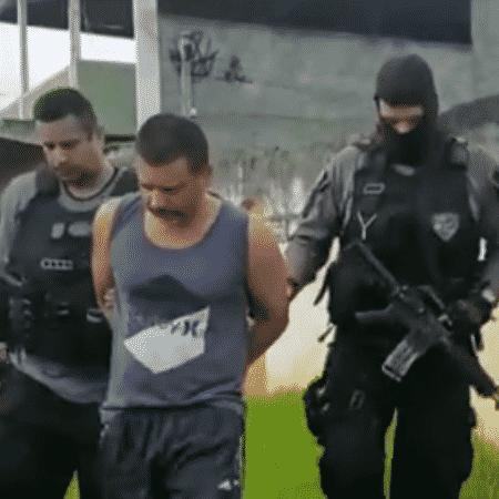 Fábio Pinto dos Santos, conhecido com Fabinho São João, foi preso hoje na operação Disk-Gás da Polícia Civil do Rio - Reprodução/TV Globo
