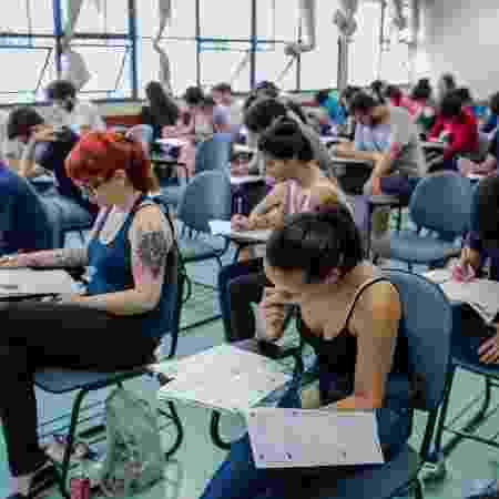 Prova da Fuvest - Eduardo Anizelli/Folhapress