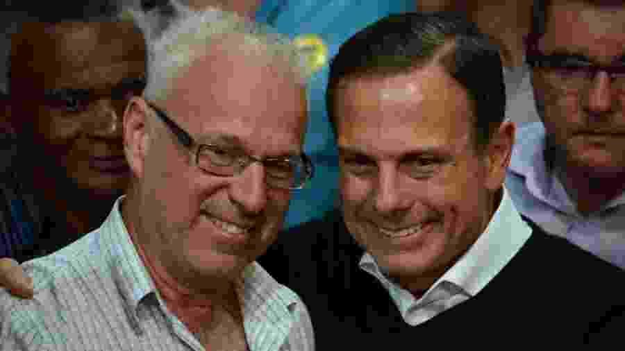 Chiquinho Campaner, prefeito assassinado nesta semana, ao lado do governador de São Paulo, João Doria (PSDB), na época da pré-campanha para o governo do estado, em 2018 - Facebook