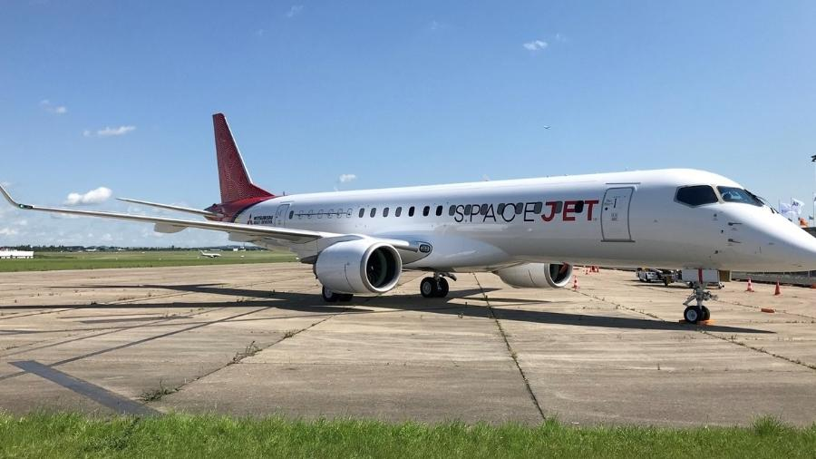 Jato japonês pretende concorrer com aviões comerciais da Embraer - Divulgação