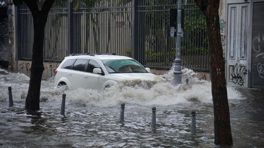11.fev.2020 - Rio de Janeiro inicia a semana com forte chuvas  - Tomaz Silva/Agência Brasil