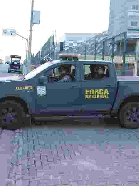 Movimentação de veículos de agentes da Força Nacional no Centro de Formação Olímpica (CFO) em Fortaleza (CE) - KLEBER GONÇALVES/ ESTADÃO CONTEÚDO