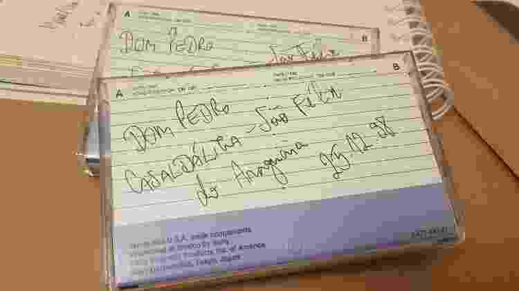 Entrevista com Dom Pedro Casaldáliga feita por Camilo Vannuchi foi registrada fitas k7 e permaneceu guardada por 22 anos - Camilo Vannuchi/Acervo Pessoal - Camilo Vannuchi/Acervo Pessoal
