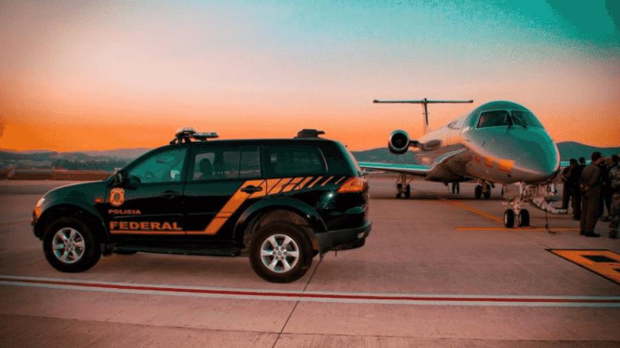 Carro da Polícia Federal durante operação - Arquivo / Polícia Federal
