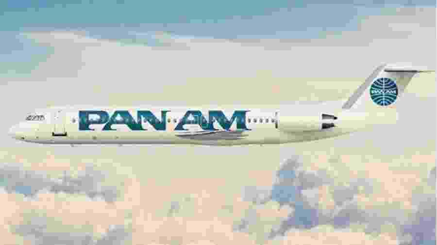 Fokker 100 será usado no Pan Am Experience Brazil - Reprodução/Aeroin