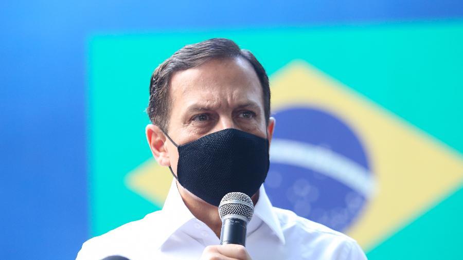 João Doria disse que Aleksander Lacerda foi afastado por ato de indisciplina - Sergio Andrade/Governo do Estado de São Paulo