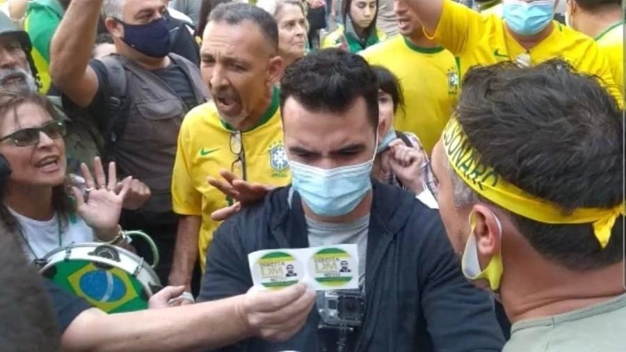 Arthur do Val é xingado por apoiadores de Bolsonaro em SP - Reprodução/Instagram
