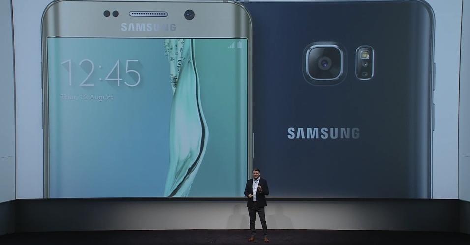 Bateria do novo Samsung S6 Edge + demora 120 minutos para carregar completamente, informa a empresa --uma hora mais rápido que a versão anterior. Edge chega em 21 de agosto no mundo