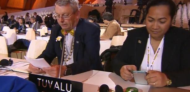 Podemos contar para nossos netos que chegamos a um acordo que vai mudar o mundo, diz Tuvalu - Reprodução