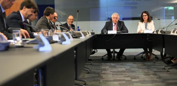 Reunião em que o BNDES anunciou nova linha de crédito às pequenas empresas
