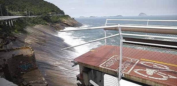 Trecho de ciclovia na zona sul do Rio desabou no dia 21 de abril