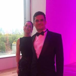 O juiz Sergio Moro e sua mulher Rosângela Moro na festa da revista Time - Reprodução/Twitter