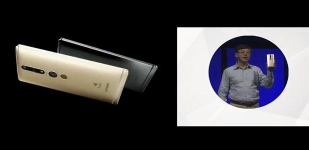 """9.jun.2016 - O novo celular da Lenovo é o primeiro a interagir com o mundo real. O chamado Phab 2 PRO se destaca pela tecnologia Tango, do Google, que é capaz de mapear o ambiente ao seu redor, criando games interativos e aplicativos que """"conversam"""" com o ambiente"""