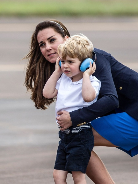 O príncipe George e a duquesa Kate - Richard Pohle/AFP
