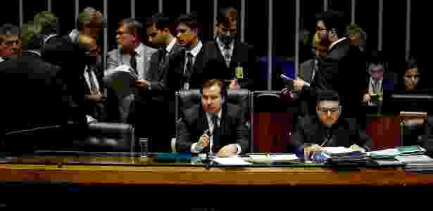 Presidente da Câmara, Rodrigo Maia (DEM-RJ), durante votação do pacote - Alan Marques/Folhapress