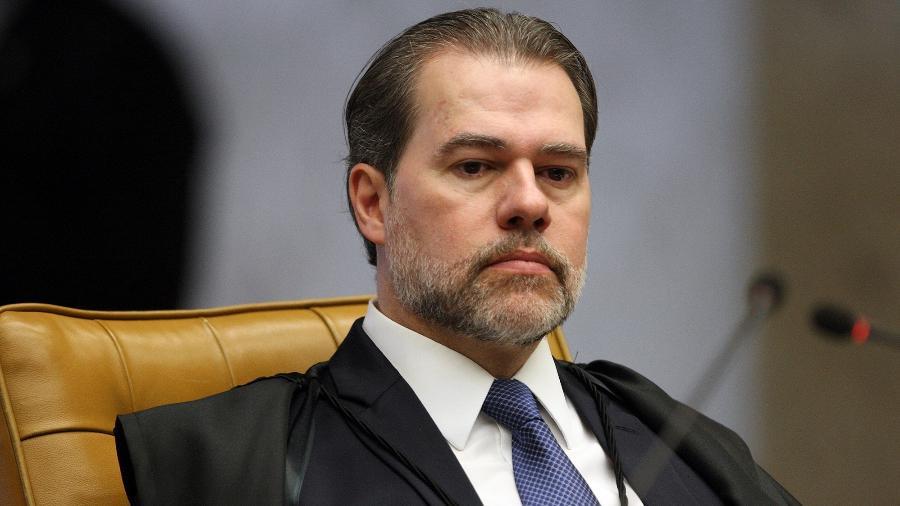 22.mar.2018 - Ministro Dias Toffoli em sessão no STF nesta quinta - Nelson Jr./STF