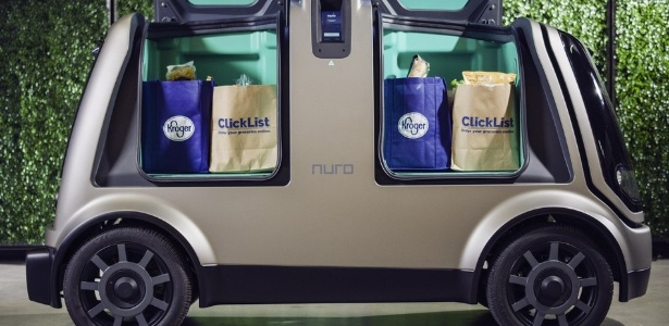 Nuro vai fazer entregas de compras com carrinho inteligente