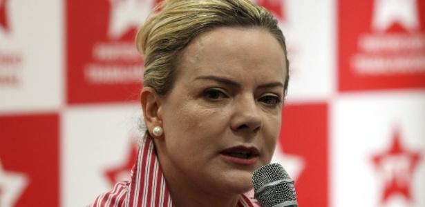 13.ago.2018 - Senadora Gleisi Hoffmann (PR), presidente do PT