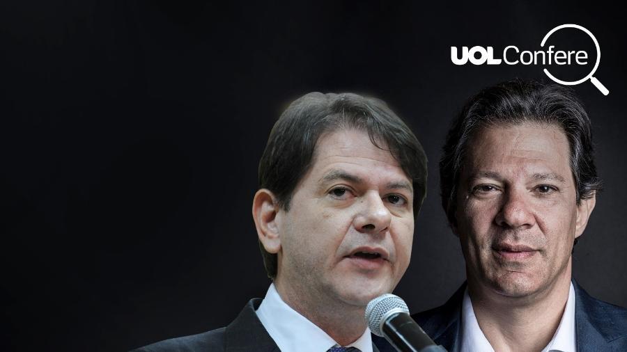 Cid Gomes (esq.) e Fernando Haddad (dir.) - Arte/UOL