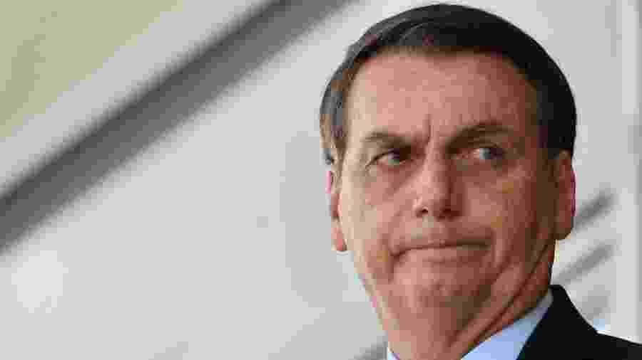 O presidente da República, Jair Bolsonaro (PSL), durante cerimônia de troca da Guarda Presidencial, em frente ao Palácio do Planalto - Mateus Bonomi/Agif/Estadão Conteúdo