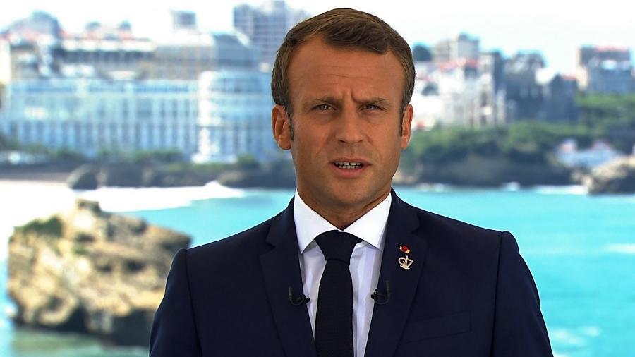 Presidente da França, Emmanuel Macron - TF1 / AFP