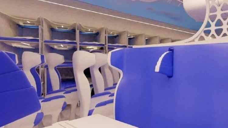 Assentos serão reconfigurados somente após a decolagem do avião - Divulgação