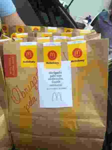 """McDonald""""s faz doações de lanches a caminheiros que estão trabalhando durante pandemia de coronavírus - Divulgação/Arcos Dorados"""