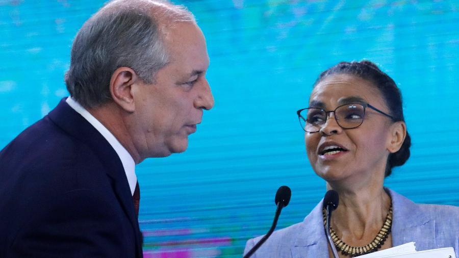 Marina Silva e Ciro Gomes em debate eleitoral em 2018 - NACHO DOCE/REUTERS