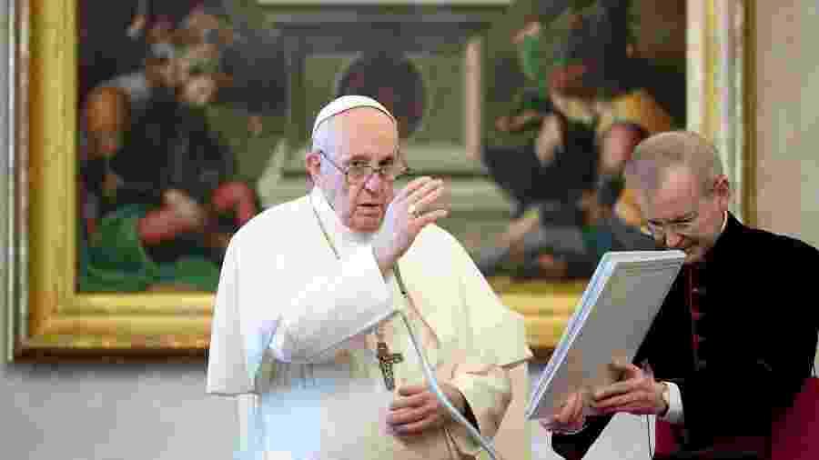 04.nov.2020 - Papa Francisco realiza uma cerimônia sem público hoje devido ao aumento de casos do coronavírus - Reuters