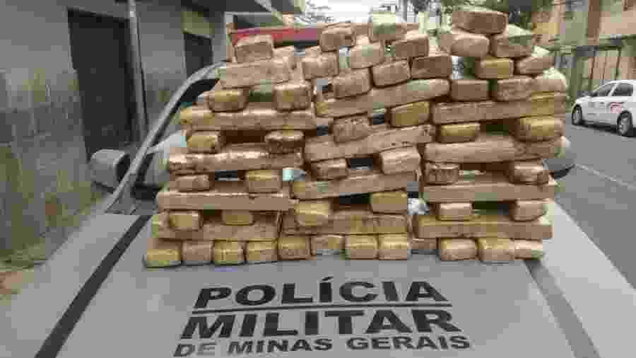 Droga partiu de Ribeirão Preto (SP); polícia procura outras três pessoas envolvidas no crime - Polícia Militar de MG/Divulgação