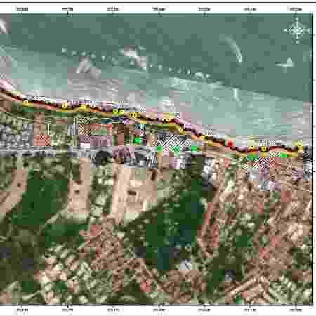 Relatório aponta imóveis em área de risco na praia de Pipa - Reprodução/Idema - Reprodução/Idema