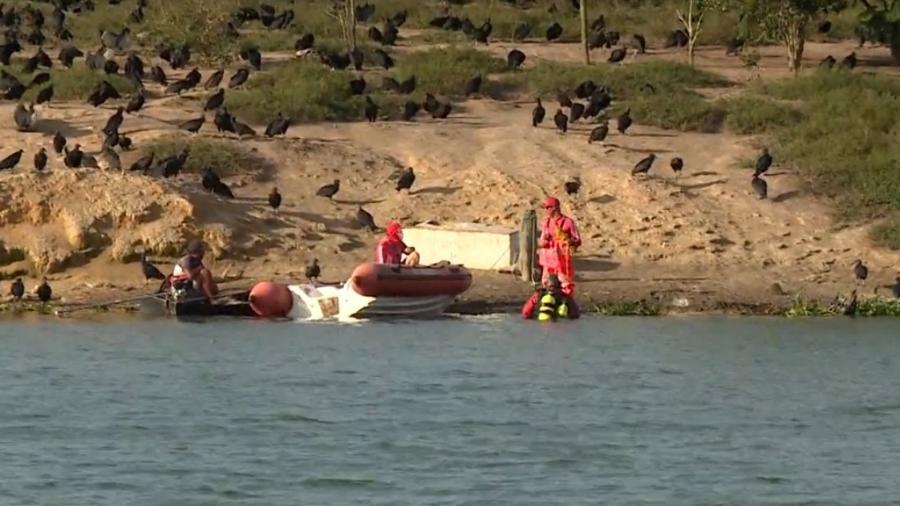 Jovem de 18 anos teria pulado na água para fugir de abordagem policial - Reprodução/ TV Gazeta