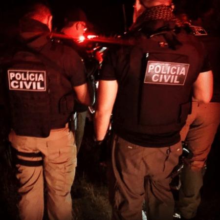 Policiais prenderam ex-marido investigado por cárcere e sequestro no Ceará - Reprodução/Instagram/Polícia Civil do Ceará