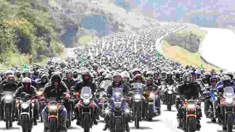 12.jun.2021 - Imagem registrada pela equipe da Presidência da República da motociata em SP - Alan Santos/PR - Alan Santos/PR