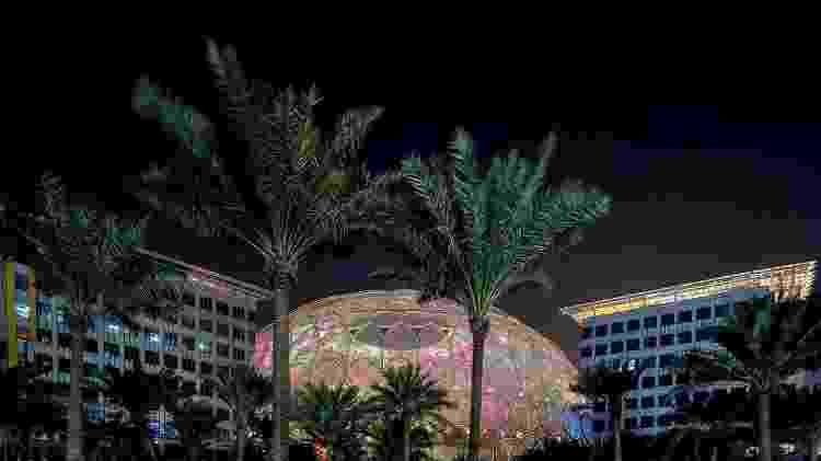 Detalhe do Al Wasl Plaza - Reprodução/ Facebook/ Expo2020Dubai - Reprodução/ Facebook/ Expo2020Dubai