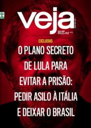 Capa da revista 'Veja' que acusa Lula de ter planos de pedir asilo político na Itália