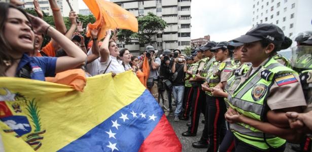 Protesto opositor na Venezuela